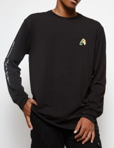 Muzca Black Molotov Cocktail Longsleeve T-Shirt
