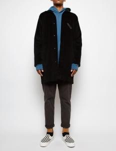 Muzca Black Corduroy Coat