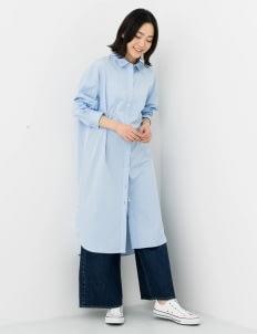 Sevendays Sunday by Stripe Japan Light Blue Hilee Shirt Dress
