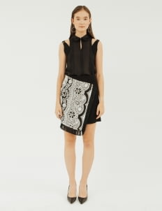 NADIYA Black & White Sera Skirt