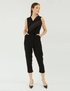 NADIYA Black Cady Jumpsuit