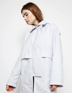 Muzca Light Gray Casual Overcoat