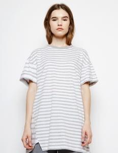 Muzca White Stripe Oversized Top
