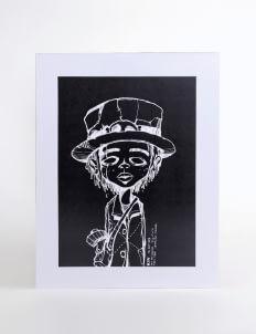 Art Of Life Black AOL x Oky Rey Art Print