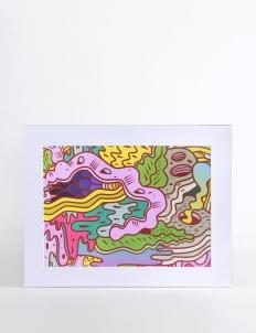 Art Of Life Multicolor AOL x Hendra Hehe Art Print