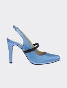 Winston Smith Blue Marisa Sling Back Heels