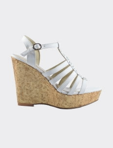 Winston Smith White Cristie Wedges