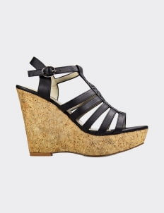 Winston Smith Black Cristie Wedges