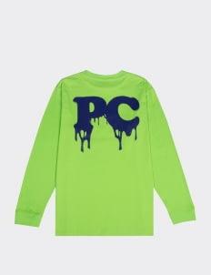 Public Culture Green Initial Drips Long-Sleeved T-Shirt