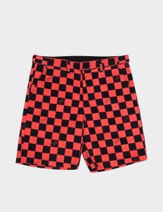 Public Culture Red Checkered Shorts