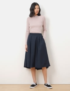 Green Parks by Stripe Japan Navy Emily Circle Skirt