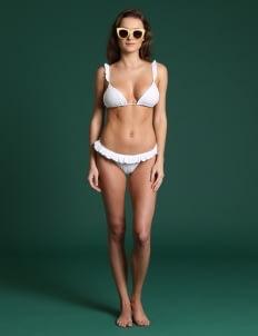 Wearstatuquo White Batsheba Baby Baby Bikini Set