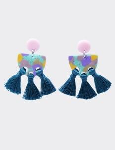 Mita Jewelry Purple Frida Earrings