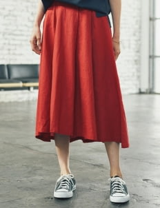 Sevendays Sunday by Stripe Japan Red Lily Midi Skirt