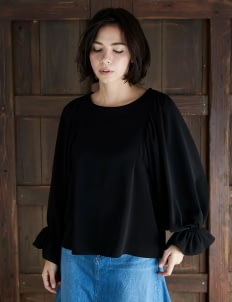 American Holic by Stripe Japan Black Beverly Longsleeve Blouse