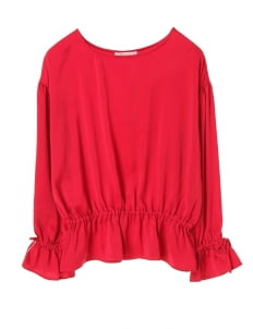 American Holic by Stripe Japan Red Molly Gathered Blouse