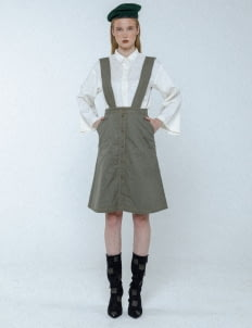 Mera Mera Studio Light Olive Jill Buttoned Skirt