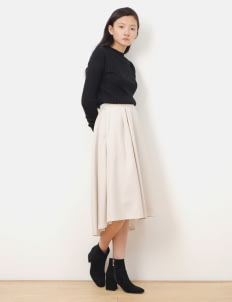 Green Parks by Stripe Japan Emily Circle Skirt - Beige