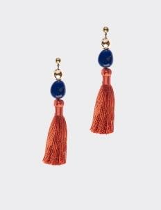 Avaleen & Co. Gingham Earrings - Tangerine