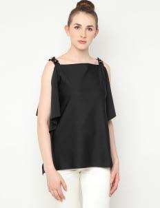 Anynome Alpha Embellished Top - Black