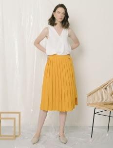 Callie Cotton Esme Skirt - Yellow