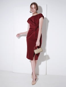 Nore Burgundy Nore Dress