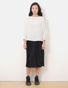E-hyphen World Gallery by Stripe Japan Louise Pleated Skirt - Black