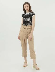 Callie Cotton Demeter Knit Vest - Black