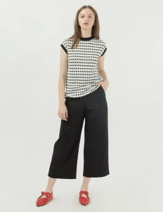Callie Cotton Demeter Knit Vest - White