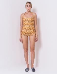 IKAT Indonesia by Didiet Maulana Prisha Swimwear - Yellow
