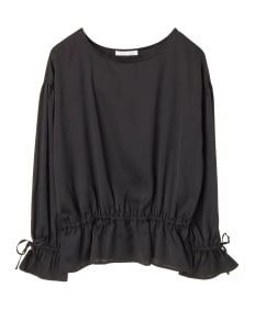 American Holic by Stripe Japan Molly Gathered Blouse - Black