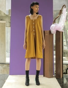Avgal Collection Sealy Dress - Mustard