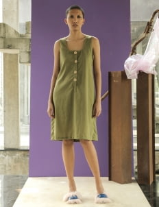 Avgal Collection Sealy Dress - Olive