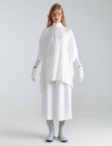 Mera Mera Studio Thana Assymetrical Shirt - White