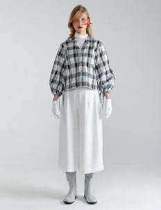 Mera Mera Studio Tartan Nayma Rope Shirt - White