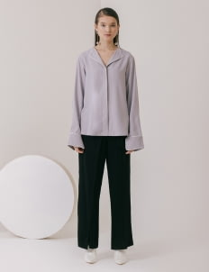 M By Mischa Delwood Top - Gray
