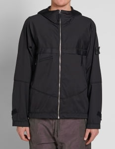 Stone Island Shadow Project Black Nylon Metal Lined Garment Dyed Hoodie