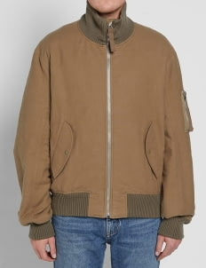 HELMUT LANG Brown Re-Edition High Collar Bomber Jacket