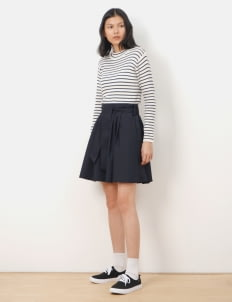 Earth, Music & Ecology by Stripe Japan Bow Midi Skirt - Navy