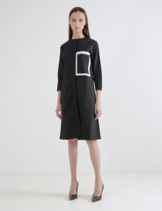 Wastu Frame Dress - Black