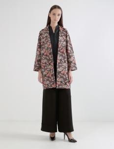 Wastu Barrel Coat - Batik