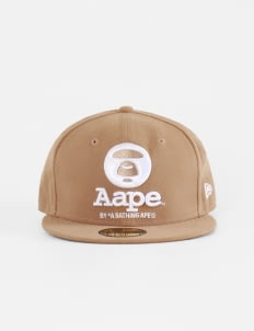 AAPE Brown New Era Cap