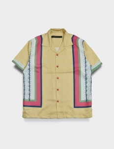 Influential Syndicate Stripe Wire Shirt - Yellow