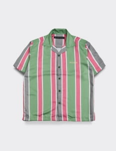 Influential Syndicate Stripe Pattern Shirt - Pink & Green