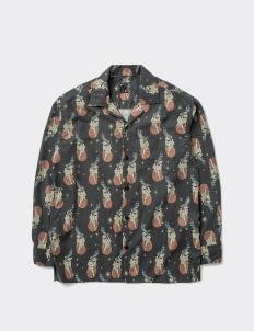 Invitationly Far Eastern Long-Sleeved Shirt - Black