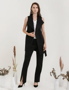 CLOTH INC Azure Vest - Black