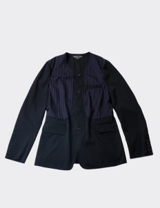 CDG Homme Plus Multicolor Collarless Jacket