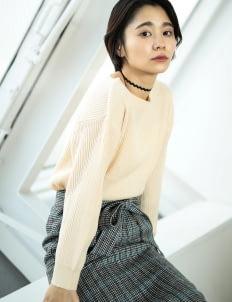 E-hyphen World Gallery by Stripe Japan Ichiko Sweater - White
