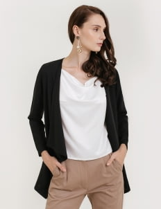 CLOTH INC Basic Drapery Outer - Black