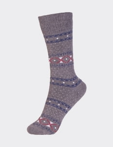Pattent Goods Ash Gray Socks - Gray
